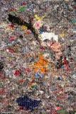 被回收的纺织品抽象背景  免版税库存照片
