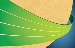 被回收的背景绿线 免版税库存照片