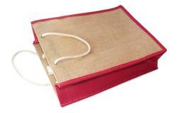 被回收的黄麻购物袋 免版税库存照片
