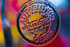 被回收的玻璃玻璃水瓶 免版税库存图片