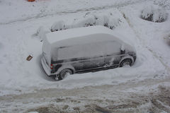 被困住在雪 库存图片