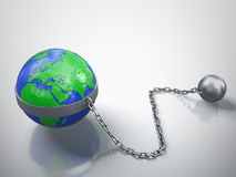 被困住的地球 免版税库存照片
