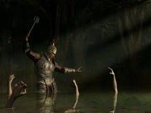 被困扰的沼泽的骑士 皇族释放例证