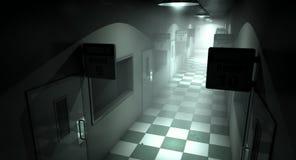 被困扰的精神病院 库存图片