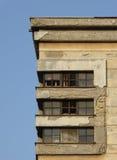 被困扰的老大厦废墟 图库摄影