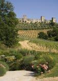 被围住的中世纪城镇 免版税图库摄影