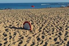 被埋没的沙子 库存照片