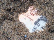 被埋没的货币 免版税库存照片