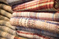 被堆的毯子  库存图片