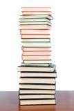 被堆积的书籍收藏 库存图片