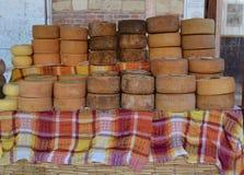 被堆积的乳酪 免版税库存照片