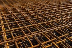 被堆积的增强钢 图库摄影
