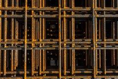 被堆积的增强钢 免版税库存图片