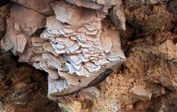 被堆积的岩石的五颜六色的形成  库存图片