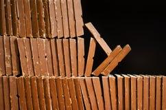 被堆积的巧克力块 免版税库存图片