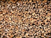 被堆积的木头 图库摄影