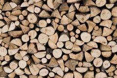 被堆积的木柴为冬天 库存图片