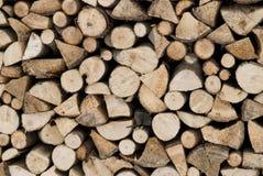 被堆积的木柴为冬天 免版税库存照片