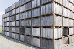 被堆积的木箱 免版税库存图片