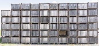 被堆积的木箱 免版税图库摄影