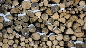 被堆积的木柴纹理 图库摄影