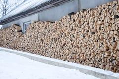 被堆积的木头 背景 免版税库存图片