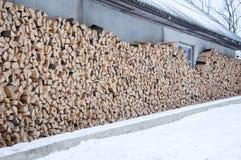 被堆积的木头 背景 库存图片