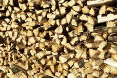 被堆积的木柴 库存图片