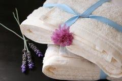 被堆积的毛巾 免版税库存图片