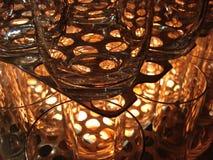被堆积的玻璃 免版税库存图片