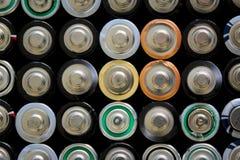 被堆积的电池 免版税库存图片