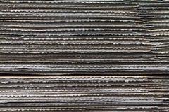被堆积的皱纸板纹理 免版税库存照片