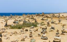 被堆积的石头在Arikok公园 免版税图库摄影
