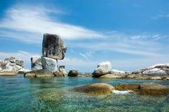 被堆积的石海岛 库存图片