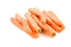 被堆积的红萝卜新鲜 免版税图库摄影