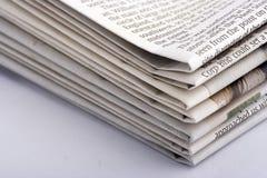 被堆积的纸张 库存图片