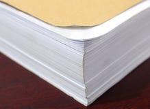 被堆积的纸 免版税库存照片
