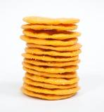 被堆积的薄脆饼干 库存图片