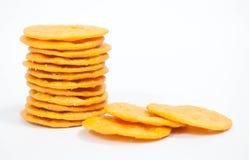 被堆积的薄脆饼干 免版税库存照片
