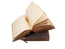 被堆积的4本古色古香的书 库存照片