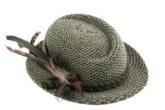 被塑造的帽子人老s提洛尔 免版税库存照片