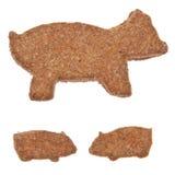 被塑造的曲奇饼猪 免版税库存图片