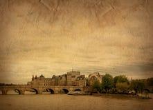 被塑造的法国老巴黎 免版税图库摄影