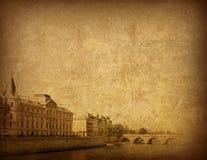 被塑造的法国老巴黎 免版税库存照片