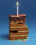 被塑造的生日蛋糕五编号 向量例证