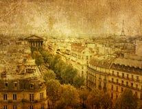 被塑造的老巴黎 图库摄影