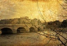 被塑造的老巴黎 库存照片
