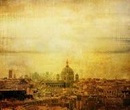 被塑造的老巴黎 免版税图库摄影