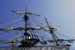 被塑造的老帆船 免版税库存图片