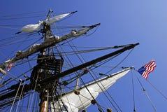 被塑造的老帆船 库存照片